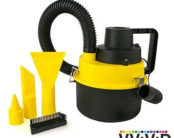 Portable Canister Wet Dry Vacuum Cleaner | REV Mini Automotive 1 Gallon Vacuum Cleaner | VViViD