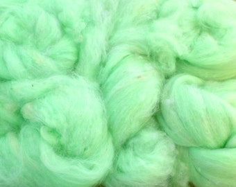 Pistachio Green Angora and Silk Spinning Fiber