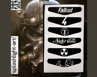 FALLOUT 4 style PS4 Controller Light Bar 6x Vinyl Sticker Decal Nuka Cola Vault boy Playstation 4 stickers GOTY