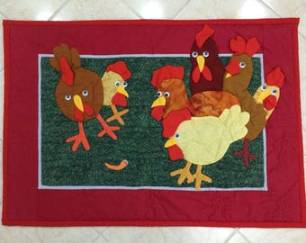 Funny Chickens - Wall Panels (Fabric)