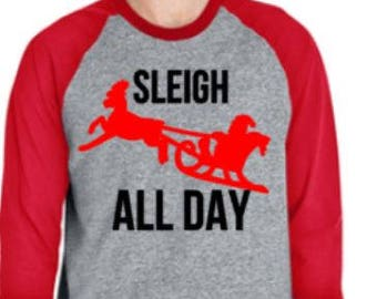 Sleigh all day SVG cut file Silhouette Cricut