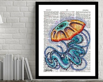 Jellyfish - Dictionary Art