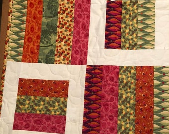 Pop Flowers Handmade Quilt