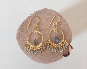 """Indian wheel"" earrings"