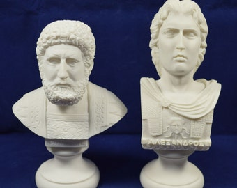 Alexander the Great Philip of Macedon sculpture set