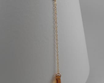 Topaz Crystal and 14K Gold-filled Lariat Necklace