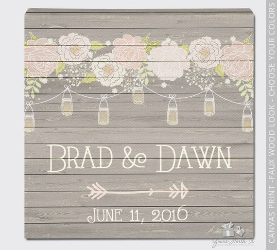 Jcpenney Gift Registry Wedding: Wedding CANVAS Print Unique Wedding Shower Wedding Gift