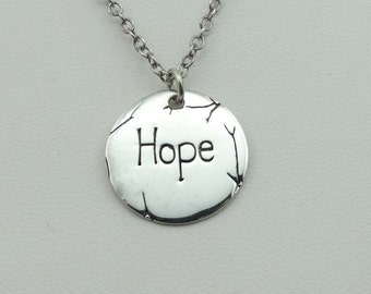 Hope Springs Eternal In This Simple Sterling Silver Pendant.  18 Inch Sterling Silver Chain Included!  #HOPE-SPC2