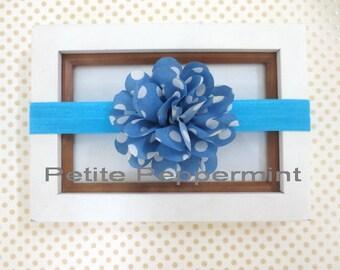 Baby headband - Blue Baby Flower Headband - Toddler Headband - Infant Headband - Baby Headband Flower - Baby Hair Accessory