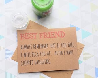 Best friend card, Just Because Cards, Friendship card, Bestie card, Just because card, Card for friend, I love you card, Friend card,