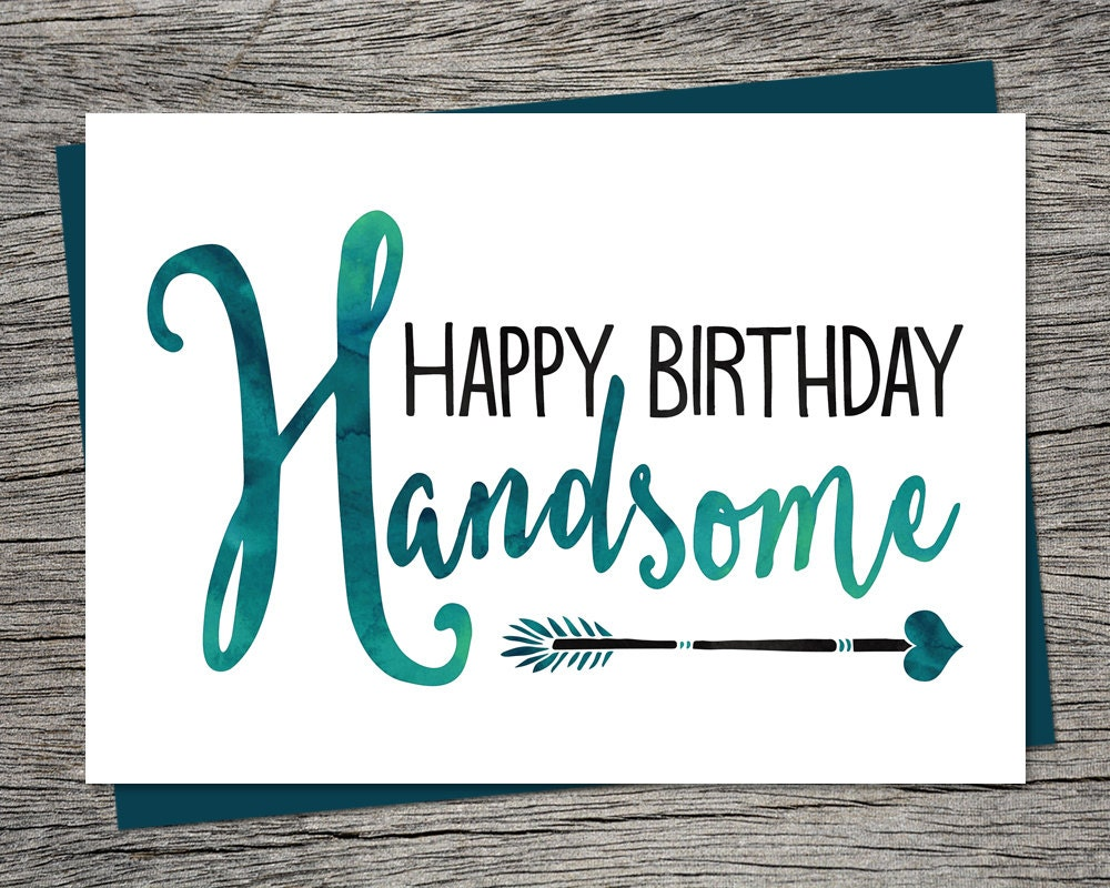 Birthday card happy birthday handsome printable card zoom bookmarktalkfo Images