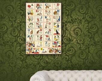 ABC - Framed Vintage Style Wall Art