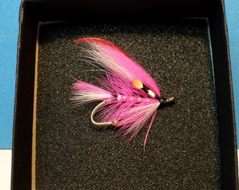 Pink Lady Superior Quality Salmon Fly Brooch Pin