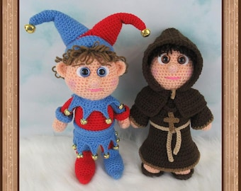 Jester And Friar (PDF file only, this is not the finished doll)