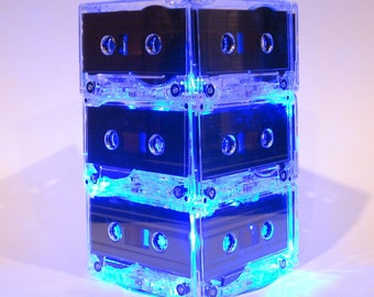 Something Blue MixTape Lighted Wedding Table Centerpiece