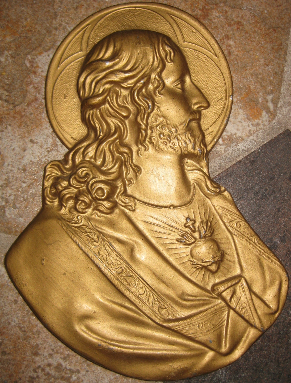 SALE Crown of Thorns Jesus Wall Plaque Victorian Bleeding