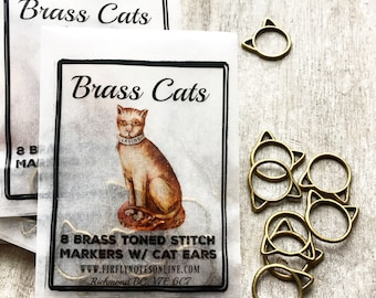 Large Cat stitch markers