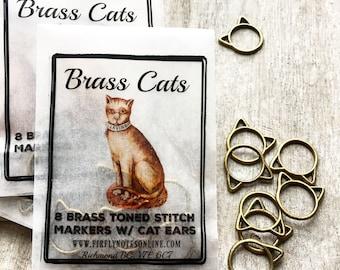 Large Cat stitch markers