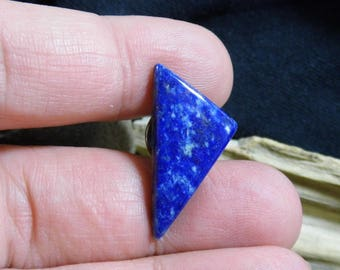 Geometric Lapis Lazuli Gemstone Tie Tack Hat Collar Lapel Scarf Brooch Pin