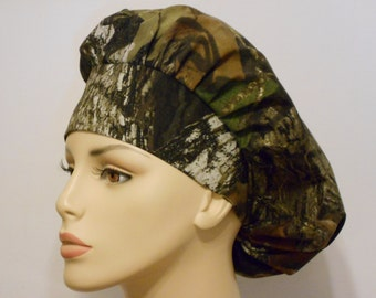 Mosey Oak Camo Scrub Hats- Bouffant Scrub Hat -CAMO Scrub Hats-Scrub Hats-Scrub Caps-Medical Scrub Hats-Vet Scrub Hats-SilverCaps-Camo Hat