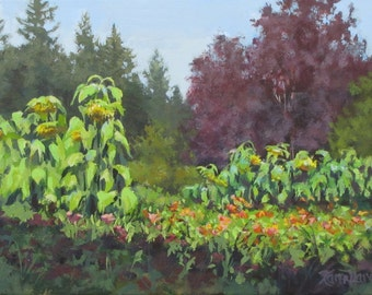 The Matriarchs - Original Garden Painting