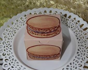 Cafe Macaron Treat Box - PDF file - Craft your own