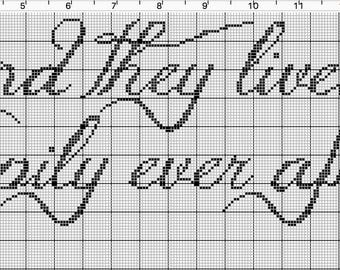 And They Lived Happily Ever After Cross Stitch Pattern