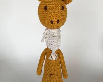 Giraffe, amigurumi giraffa, crochet giraffe,baby deco,  giraffe toy, Nursery deco,baby animal