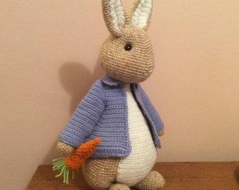 Crochet rabbit/bunny/soft toy/Peter/Easter bunny/crochet stuffed toy/amigurumi