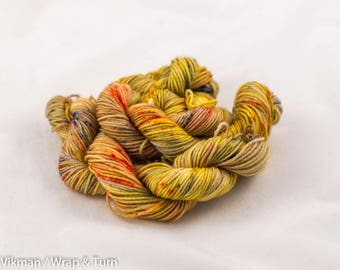 Colour 6 (OOAK) - Mini skein - Sock (Superwash Merino and Nylon)