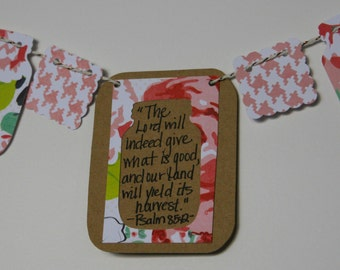 Psalm 85:12 Mini Scripture Bunting