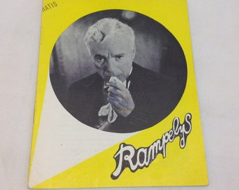 Limelight Charles Chaplin Claire Bloom Nigel Bruce Old 1952 Vintage Collectible Memorabilia Danish Movie Theater Souvenir Original Programme