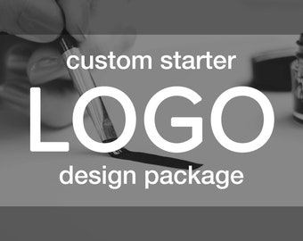Starter LOGO Branding Package | Custom Design - Matching Watermark & Branding Board Included | Business Identity Creative Graphic Art