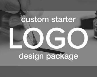 Starter LOGO Branding Package | Custom Design - Matching Watermark & Branding Board Included | Business Identity Creative Graphic Art