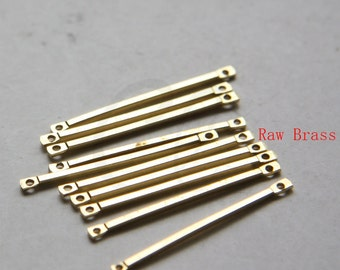 100 Pieces Raw Brass Connector - Link - Bar 32x1.2mm (3060C-M-71)