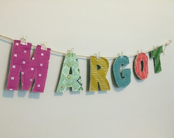 Choose your own custom Fabric letters - organic cloth letters - fabric letters - wall decor