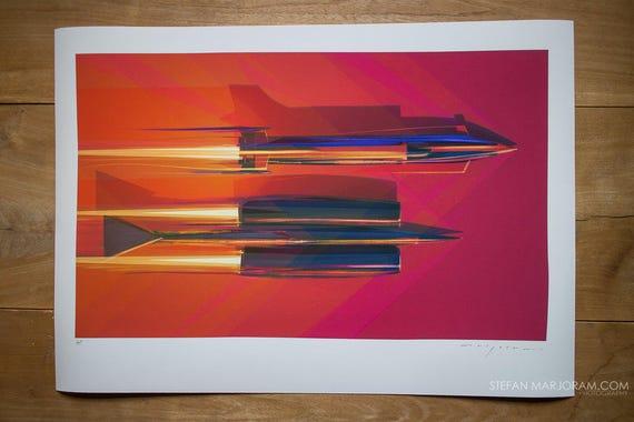 Thrust SSC 20th Anniversary Print