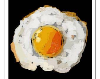 Fried Egg-Pop Art Print