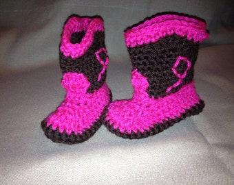 Cowgirl/Cowboy Baby Booties sizes 0-3 months, 3-6 months, and 6-12 months