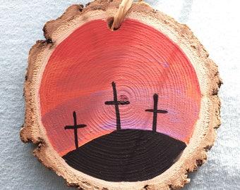 Handpainted wood ornament
