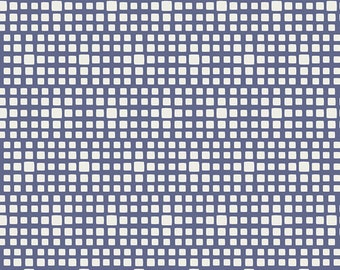 Squared Elements by Art Gallery Fabrics, Blueberry, SE-612