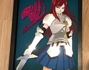 11x14: Fairytail Erza Shadowbox