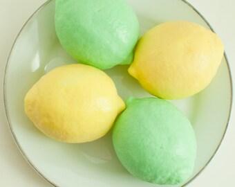 Lemon soap - gift for mom Lime Soap - fruit soap - hostess gift - Kitchen soap - lemon shaped soap - Citrus Fruit soap - Food Soap