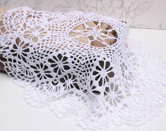 Vintage Lace, Crochet Lace Layer, White Cotton Photo Prop, Newborn Photo Prop, Photography Prop, Photographer Gift