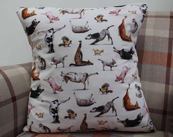 Farm Animals Cushion Cover, Farm Animals Cushion, Horses, Cows, Sheep, Pigs, Yoga, Housewarming Gift, Birthday Present