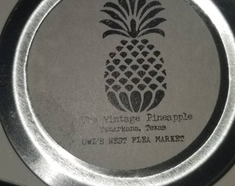 The Vintage Pineapple soy was candles with signature scent