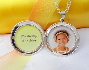You are my Sunshine - Photo Locket Necklace