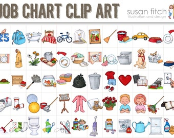 Job Chart Chore Chart Clip Art