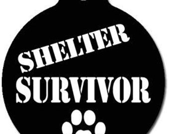 Shelter Survivor Cat or Dog ID Tag - Custom, Metal, Fully Personlized - Higher Quality