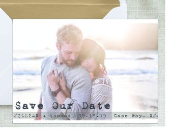 Save the Date Printable Photo postcard engagement announcement Digital File photo save the date Card Photo Announcement wedding printable
